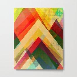 mountain print, abstract art, abstract print, giclee print, giclee art print, violet art, earth colo Metal Print