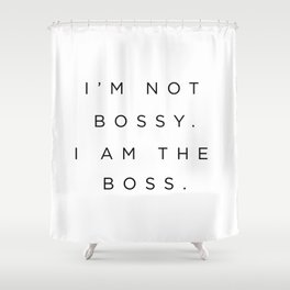 Boss Shower Curtain