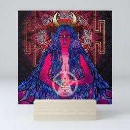 the devil and the goddess Mini Art Print