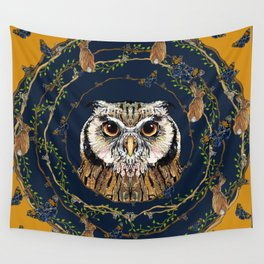 Woodland Owl Wall Tapestry