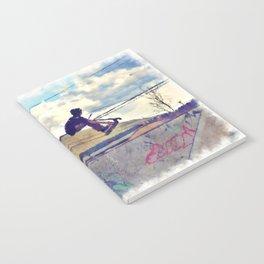 Graffitti Glide Stunt Scooter Sports Artwork Notebook