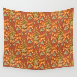 Autumnal flowers and fern seamless pattern Wall Tapestry