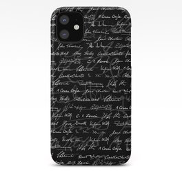 Literary Giants Pattern iPhone Case