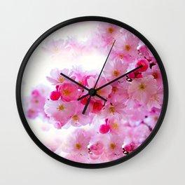 Cherry Blossom Tree So Pink Wall Clock