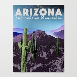 Arizona: Superstition Mountains Canvas Print