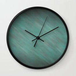 Abstract Soft Watercolor Gradient Ombre Blend 13 Teal, Blue, Green, and Black Wall Clock