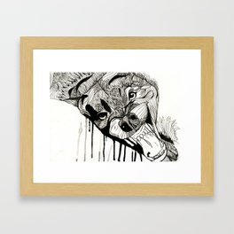 Fight! Framed Art Print