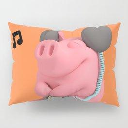 Rosa the Pig Music Pillow Sham