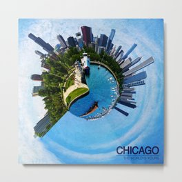 Planet Chicago Metal Print
