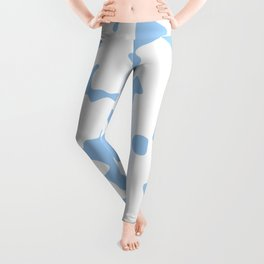 Large Spots - White and Baby Blue Leggings