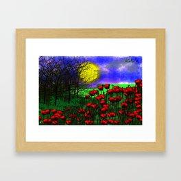 Flowers red Framed Art Print