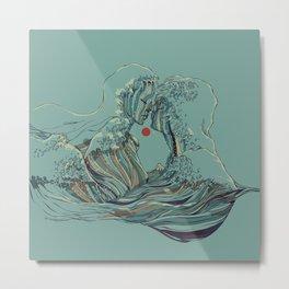 Kissing The Wave Metal Print