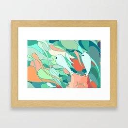 Caught in a Sea Framed Art Print