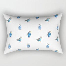 Blue Canaries Rectangular Pillow