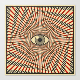 Red eye of providence Canvas Print