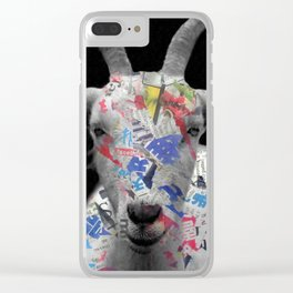 goat Clear iPhone Case