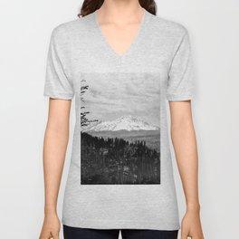 Mount Shasta, and neighboring mountain Shastina, Siskiyou County, ca.1900-1940 Unisex V-Neck