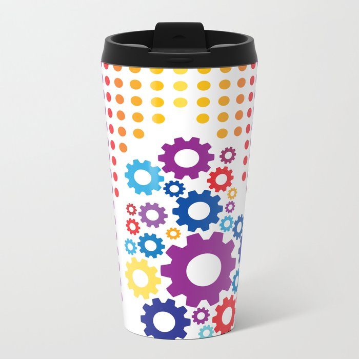 Playing with basic colors and round shapes Metal Travel Mug