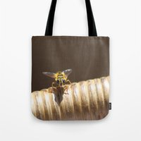 bee Tote Bags featuring BEE by Avigur