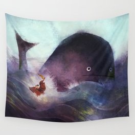 Racing the Whale Wall Tapestry