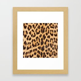 primitive trendy stylish fashionable safari animal leopard Framed Art Print