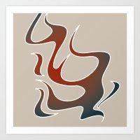 Cool Flames Art Print