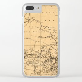Map Of Canada 1762 Clear iPhone Case