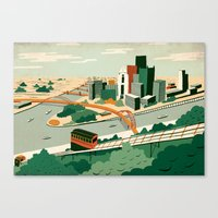 steelers Canvas Prints featuring Pittsburgh, Pennsylvania by Sam Brewster