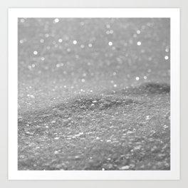 Glitter Silver Art Print