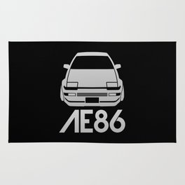 Toyota AE86 Hachi Roku - silver - Rug