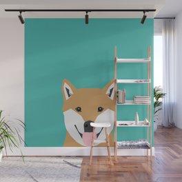 Shiba Inu dog head cute gifts for shiba inus lovers dog breed art Wall Mural