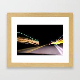 Night Road 1 Framed Art Print