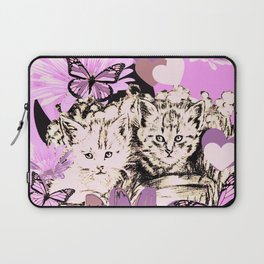 Frieda's Baby Cats in Pink Laptop Sleeve