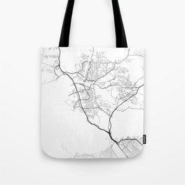 Minimal City Maps - Map Of Santa Clarita, California, United States Tote Bag