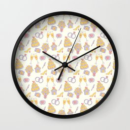 Wedding Pattern Wall Clock