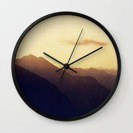 Layered Swiss Alps Wall Clock