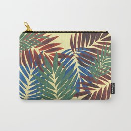 Palm Leaves in Red, Blue and Green Carry-All Pouch