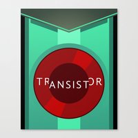 transistor Canvas Prints featuring Transistor by Spiritius