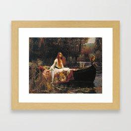 John William Waterhouse - The lady of shalott Framed Art Print