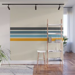 Vintage Retro Stripes Wall Mural