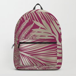 Tropical Palm Leaves, Pink and Gold Backpack
