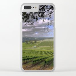 Stormy Day in the Vineyard Clear iPhone Case