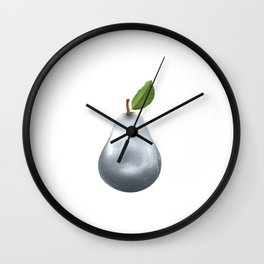 Metal pear Wall Clock
