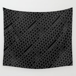 Keyboarded BLACK Wall Tapestry