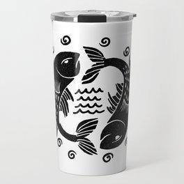 pisces zodiac Travel Mug