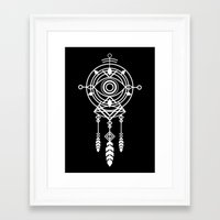 cosmic Framed Art Prints featuring Cosmic Dreamcatcher by Picomodi