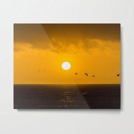 Sunset at Half Moon Bay Metal Print