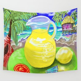 Lemon Paradise Wall Tapestry