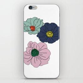 Botanical floral illustration line drawing - Anemone iPhone Skin