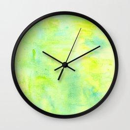 Greenery Abstract Wall Clock